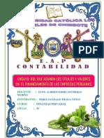 Ensayo Rol Que Asumen Los Títulos y Valores en El Financiamiento de Las Empresas Peruanas.
