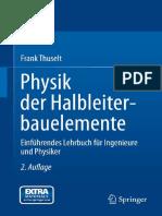Physik Der Halbleiterbauelemente - Einführendes Lehrbuch Für Ingenieure Und Physiker