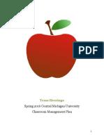 classroom management plan 2016