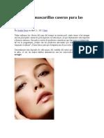 8 Efectivas Mascarillas Caseras Para Las Arrugas