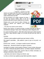 Ficha de Cuento Filomena