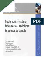 Gobernanza Universitaria Andrés Bernasconi
