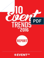 Tendencias para la organización de eventos 2016