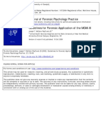 Guidelines for Forensic Application of the MCMI-III