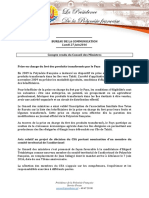 Compte Rendu Conseil Des Ministres - Lundi 27 Juin 2016