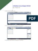 Membuat Koneksi Database Access Dengan VB 2010