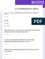 perspectives of mathematics ability