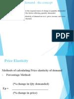 Economics-Elasticity of Demand(s)