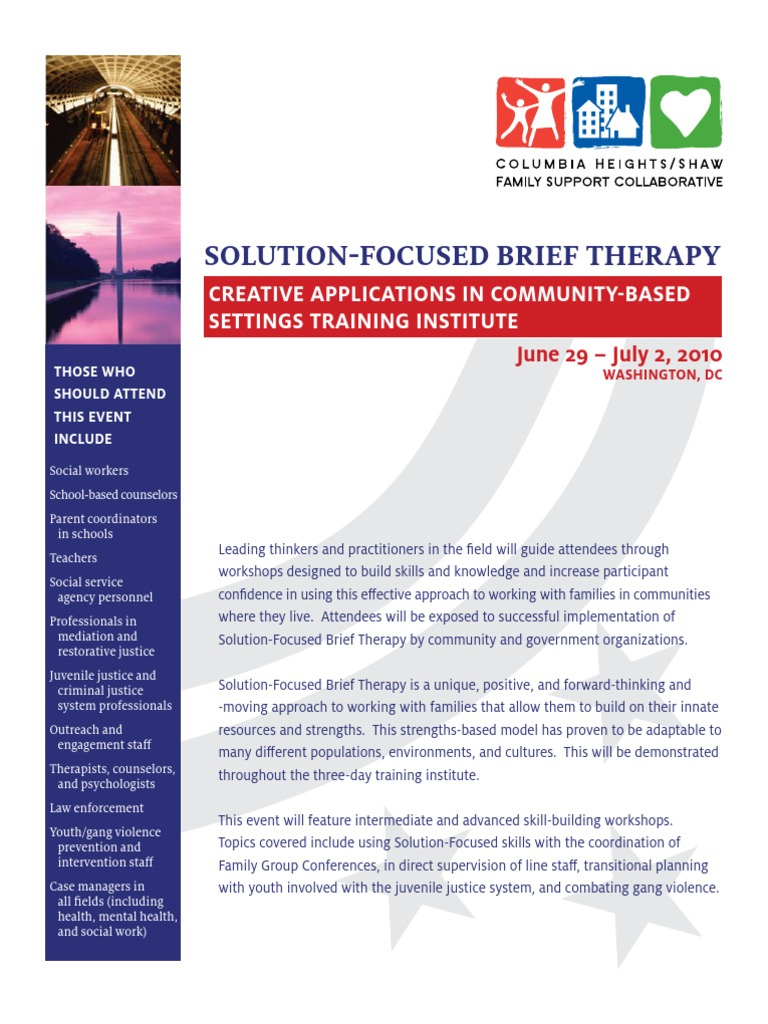 Workbooks solution focused therapy worksheets for children : SFBT Training Institute Program | Solution Focused Brief Therapy ...