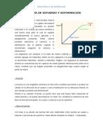 Diagrama de Esfuerzo y Deformacion