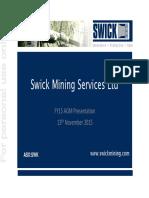 Swk FY15 AGM Presentation