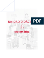 Unidad Didactica Matematica 4togrado