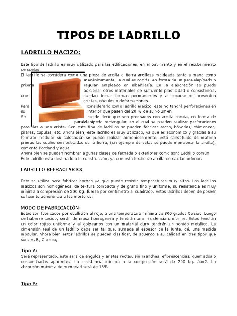 Tipos de ladrillo diversas geometras de ladrillos - Tipos de ladrillo ...