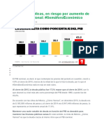 Finanzas Públicas en Riesgo Por Deuda 2016