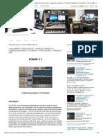 Musicaudio - Novidades_ Lançamento Musicaudio - Manual Sonar x3 - Configurações e Tutoriais - Português - Formato PDF