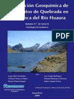 Prospección Geoquímica de Sedimentos de Quebrada en La Cuenca Del Río Huaura%3b 2009