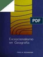 Fred. K. Schaefer - Excepcionalismo en Geografía