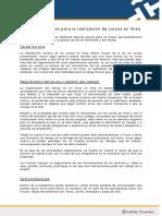 Recomendaciones Para La Realizacion de Cursos en Linea en Plantilla