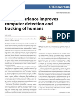 Using Covariance Improves Computer Detection and Tracking of Humans