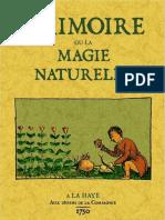 Grimoire Ou La Magie Naturelle