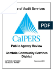 Public Agency Review of Cambria Community Services District