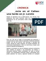 CRÓNICA UN DÍA EN LORETO - CALLAO