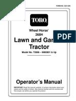 toro wheelhorse demystification electical wiring diagrams for all Toro Wheel Horse Tractors Wiring toro wheel horse 268h lawn and garden tractor operators manual