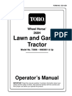 Toro Wheel Horse 268H Lawn and Garden Tractor Operators Manual