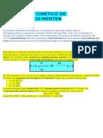 Modelo Cinético de Michaelis
