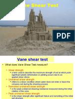 Vane Shear Test