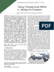 Renewable Energy Potential in MENA Region