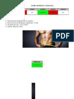 Home Workout Schdul