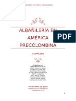 Informe de Albañileria Precolombina