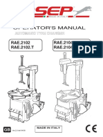 RAE.2102-RAE.2104 Tire Changers User Manual