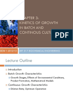 Kinetics of Growth in Batch and Continuous Culture