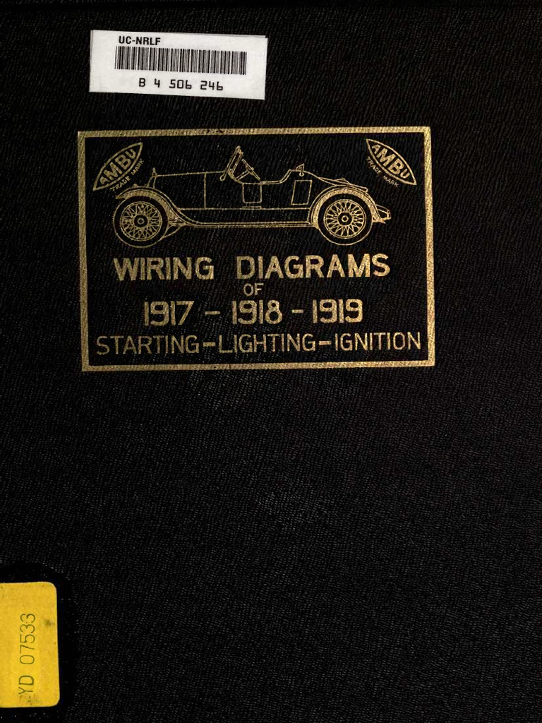 1917 1918 1919 Automobile Wiring Diagramspdf Power Physics 6 Volt Autolite Generator Diagram Electrical Engineering
