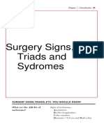 Surgery Signs,Triads n Syndromes