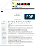 How to Learn Multiple Languages Without Getting Confused_ the Laddering Method