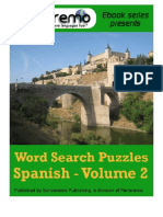 Spanish Word Search Puzzles Spanish - Volume 2