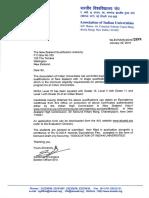 India AIU Letter