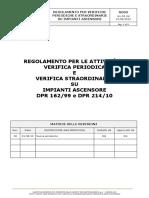 Regolamento Verifiche PA SA Ascensori