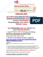 [2016.6 NEW]Braindump2go 200-125 Dumps 458q Offered 1-10