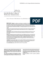Improving Patient Safety by Identifying Side Effects From Introducing Bar Coding in Medication Administration