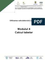 M4 - Calcul tabelar