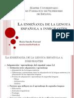 La Enseñanza de La Lengua Española a Inmigrantes_María Sancho