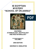 """Ancient Egyptian Mystery """"School of On (Annu ofe God)"""" _Download Version_Text_2004 Ed"""