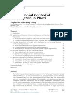 Control Hormonal de la Regeneración en Plantas