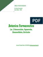 Botanica Farmaceutica - Lez 02