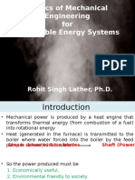 Basics of Mechanical Engineering for Renewable Energy Systems