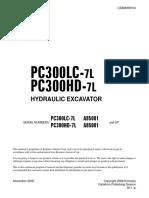 SM PC300LC-7L, PC300HD-7L, A85001 up CEBM009104
